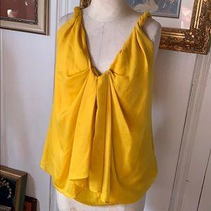 Diane von Furstenberg Yellow Silk Top